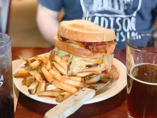 burger at blue heron brew pub marshfield wi