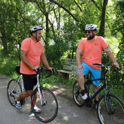 biking on eisenbahn trail west bend wisconsin