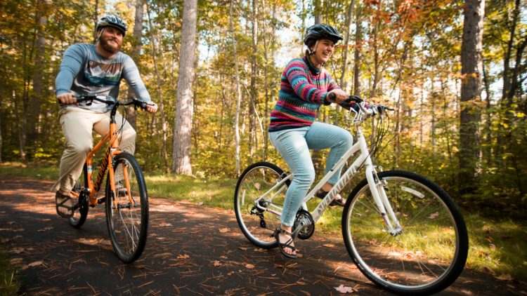 fall biking boulder junction wi