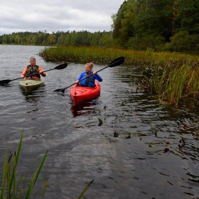 Kayaking on Plum Lake Vilas County Wisconsin