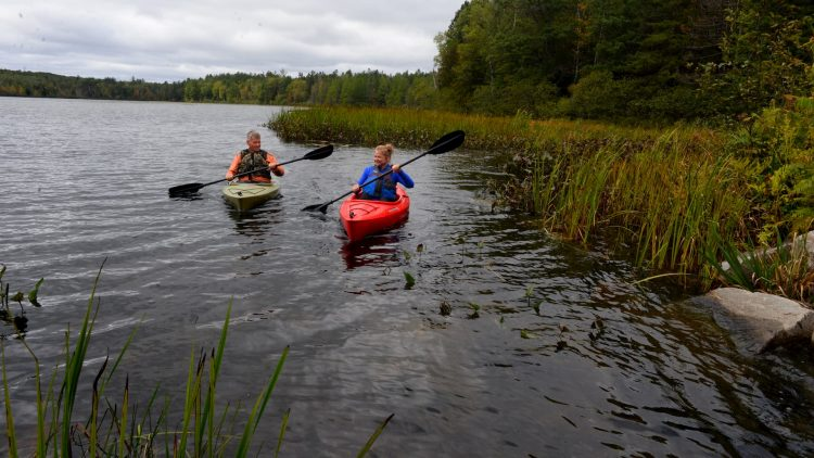Kayaking on Plum Lake Vilas County Wisconsin