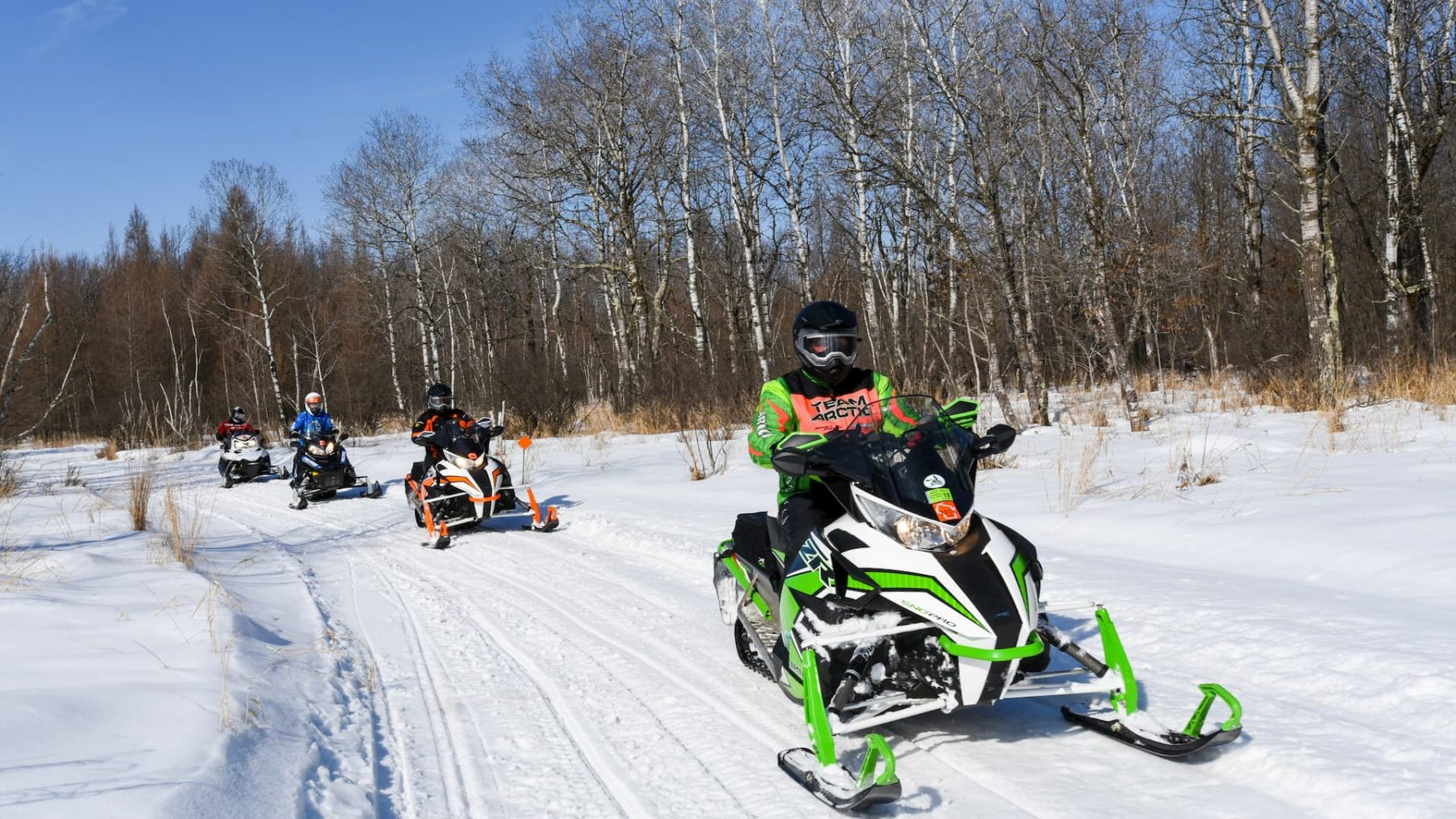 Snowmobiling in Rusk County, Wisconsin