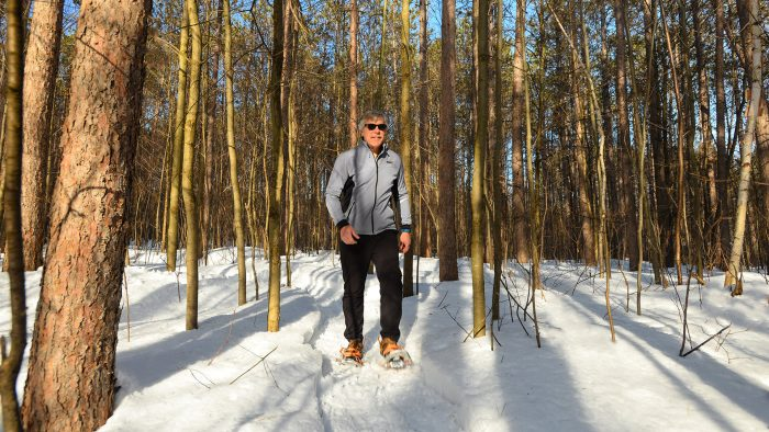 Snowshoeing the Ice Age Trail in Rusk County WI