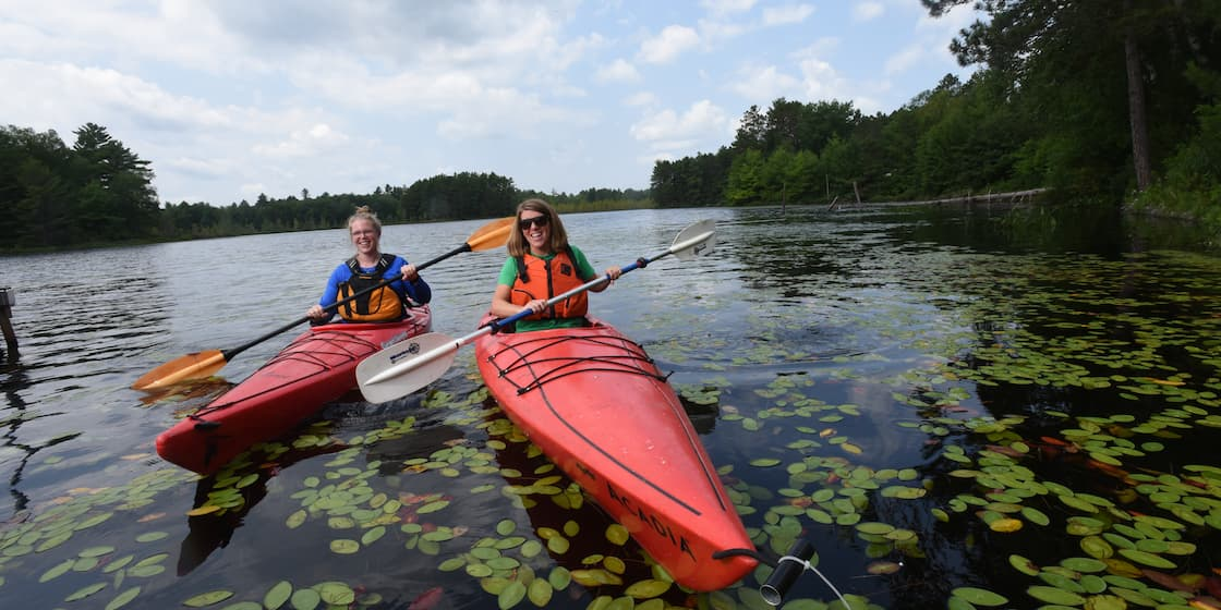 Kayaking in Vilas County Wisconsin