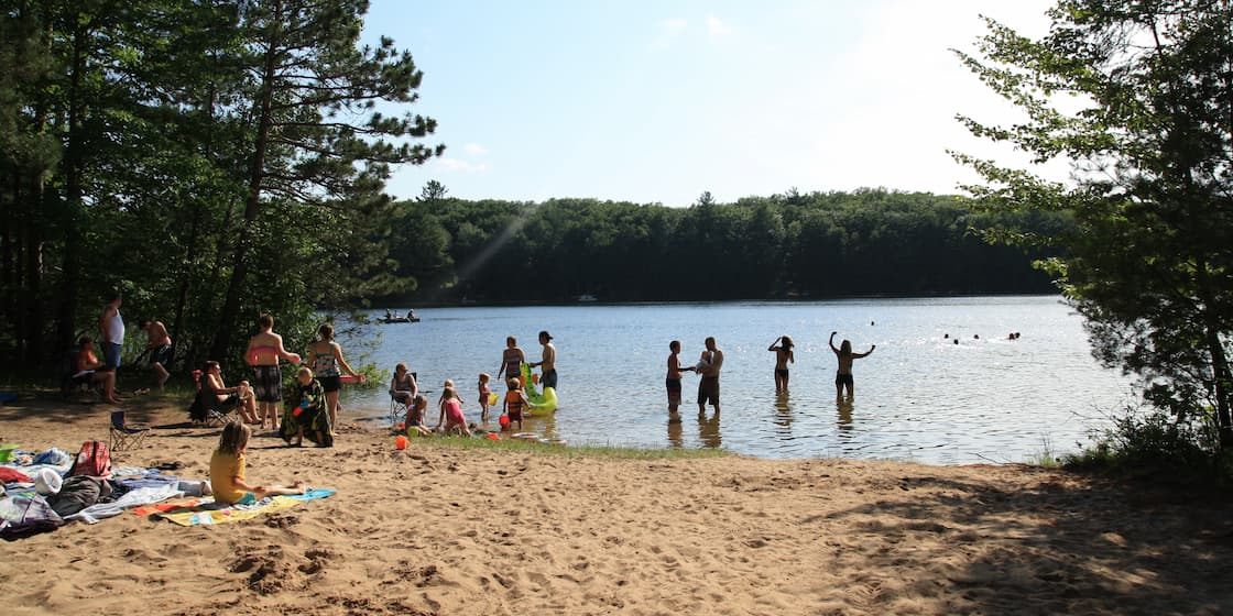 Beach in Oneida County Wisconsin