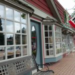 Shopping in downtown Boulder Junction Wisconsin