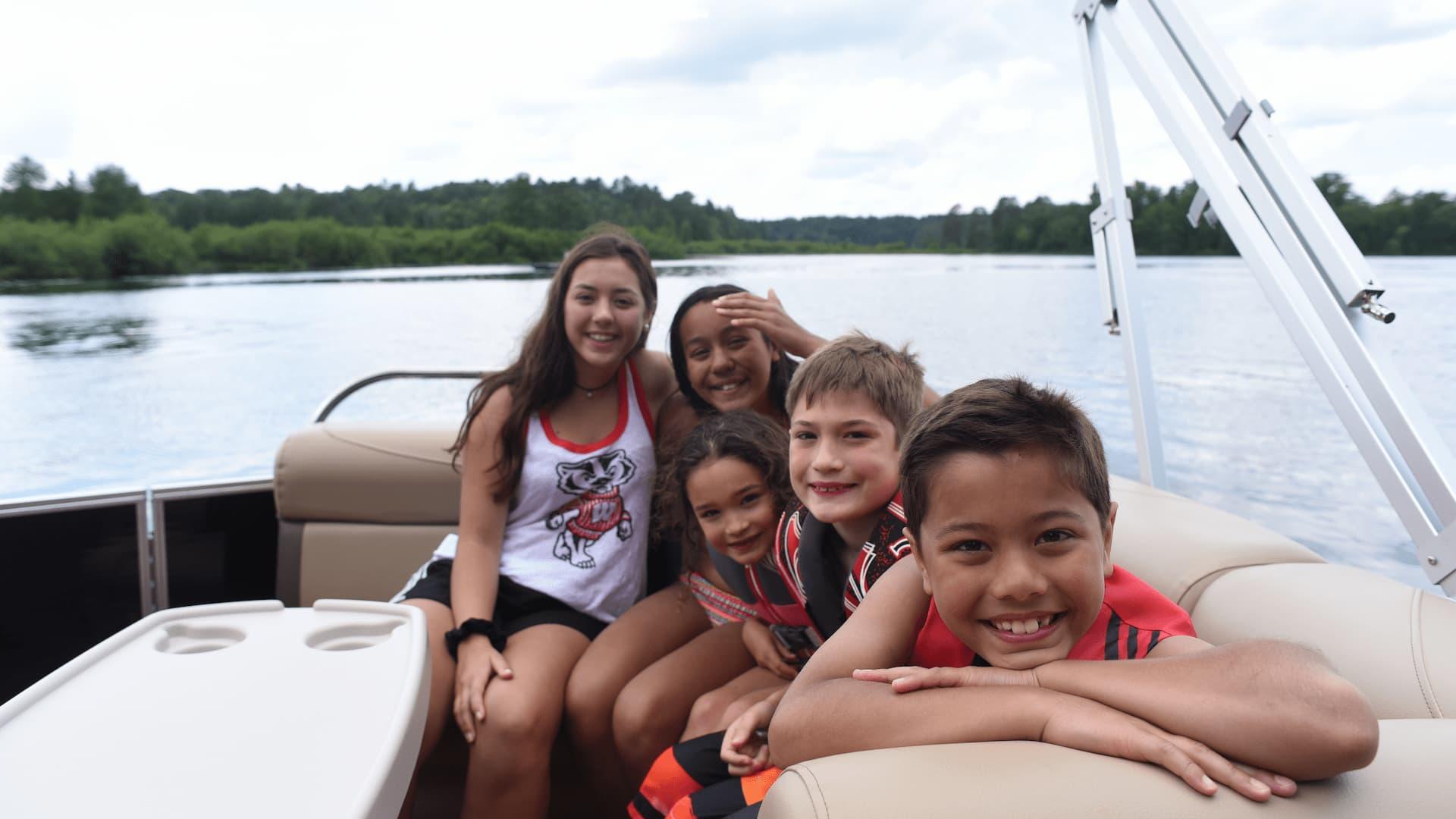 Vilas County Wisconsin pontoon boating