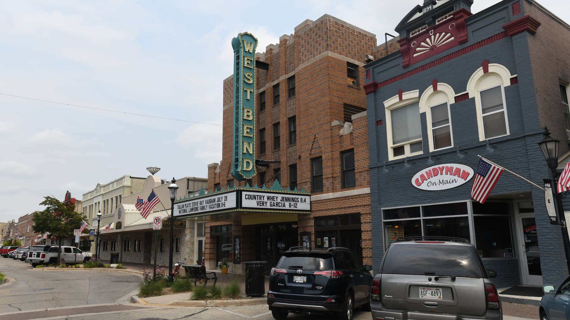 Shopping in downtown West Bend Wisconsin