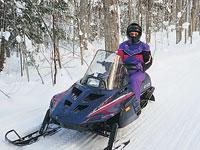Snowmobiler in Rhinelander
