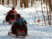 Snowmobilers in Rusk County
