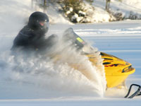 Snowmobiler in Vilas County
